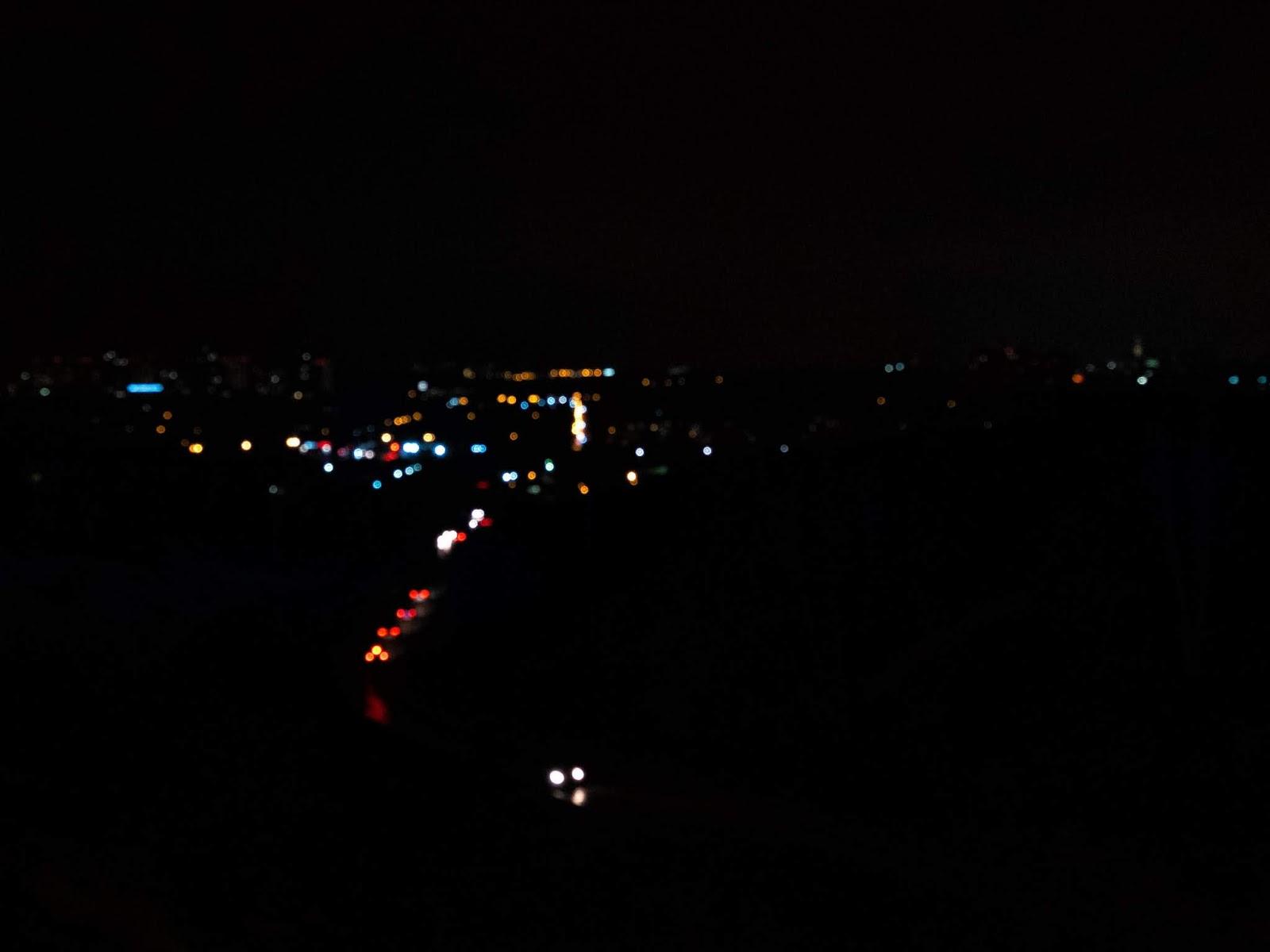 На ночном фото цветное пятно