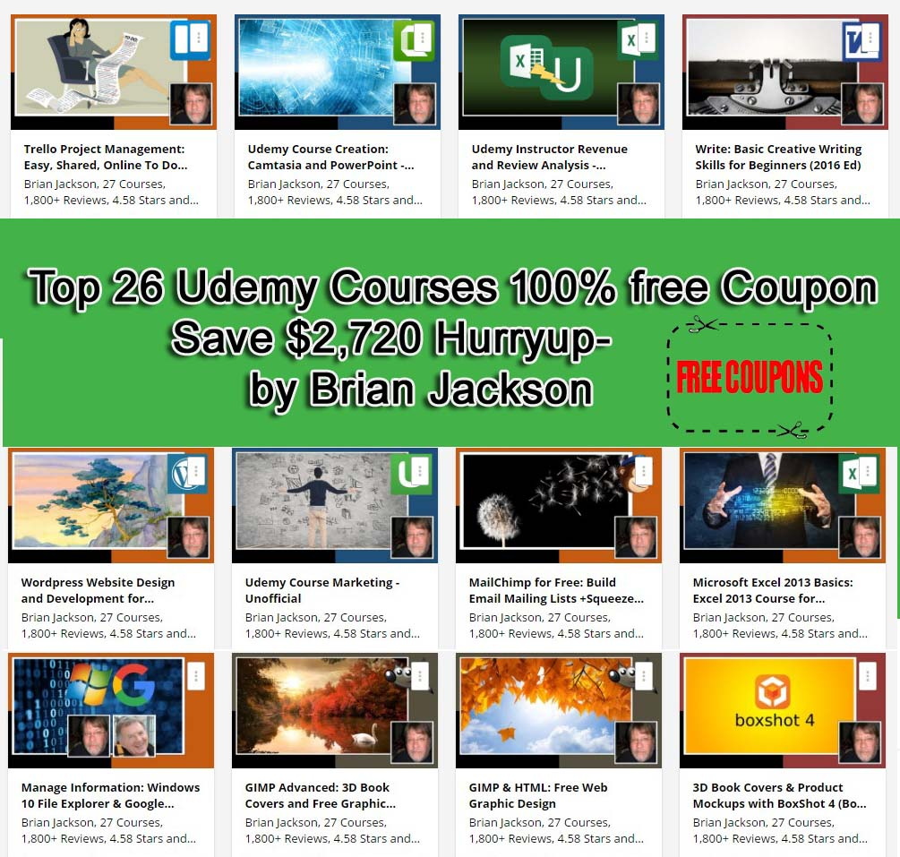 100 udemy free coupons