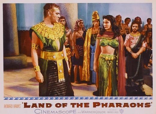 Lobby card - Land of the Pharaohs, 1955