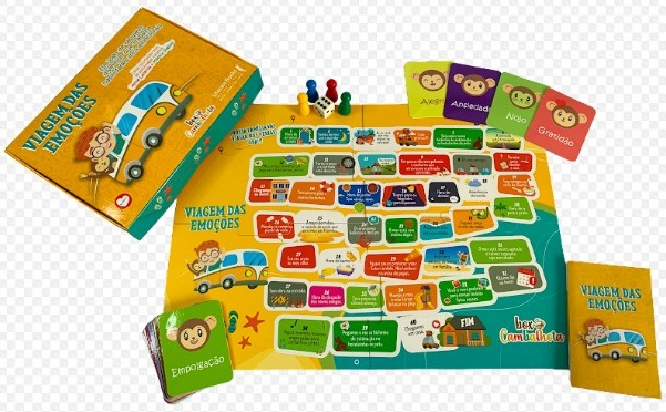 Livro-jogo ensina crianças a lidar com as emoções