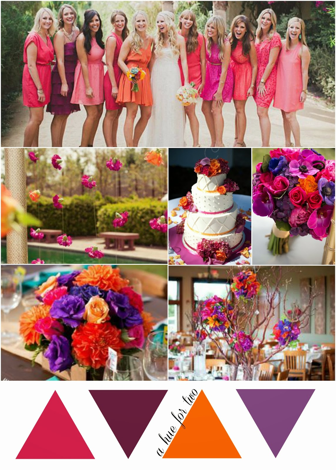 Here Is A Beautiful Wedding Colour Scheme That Reminiscent Of Tropical Sunset I Hope You Enjoy These Pinks Purples And Oranges As Much Do