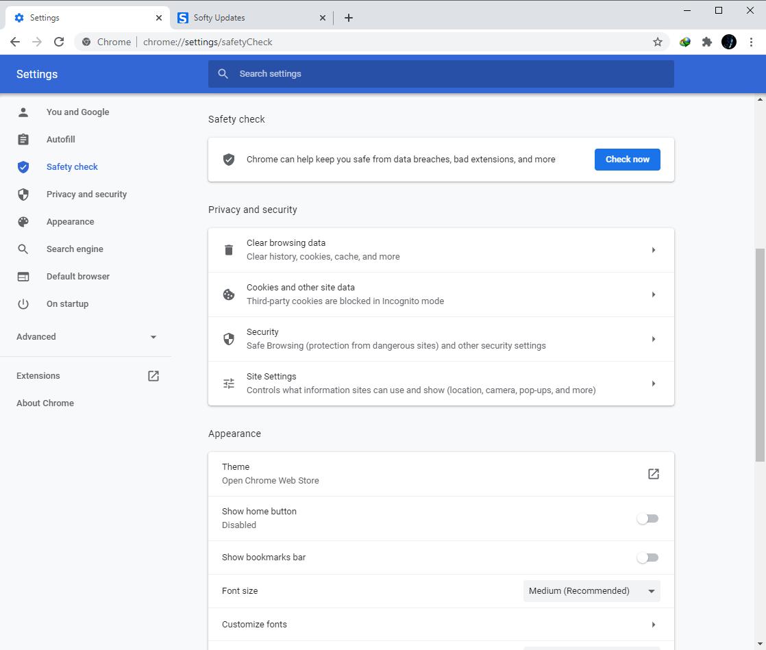 Google Chrome Browser 89.0.4389.82