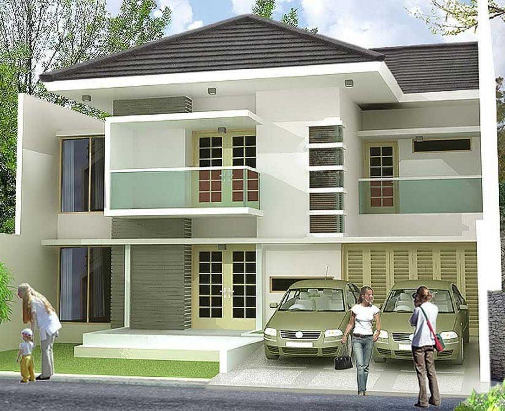 gambar trend rumah minimalis 2 lantai unik