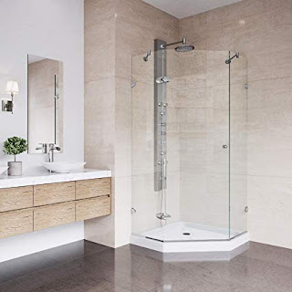 A Glass Shower Enclosure