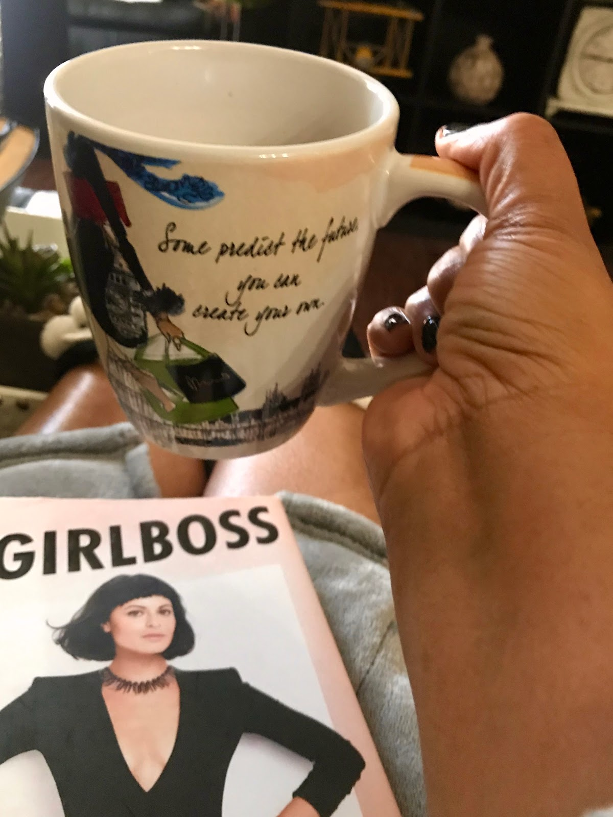 Coffee cup, girl boss book for a winter with ease motivation