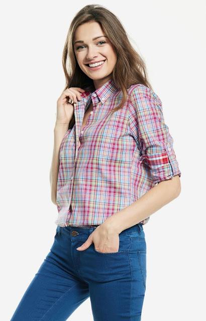 różowa kratka koszula, wólczanka, wiosenna kolekcja