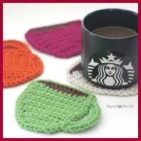 Posavasos taza a crochet