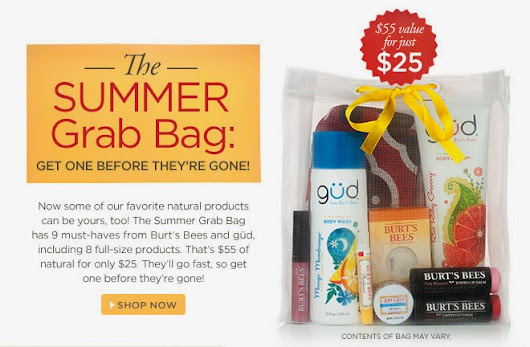 Burt's Bees Deal: Summer Grab Bag $25 (Reg $55) | Your Retail Helper