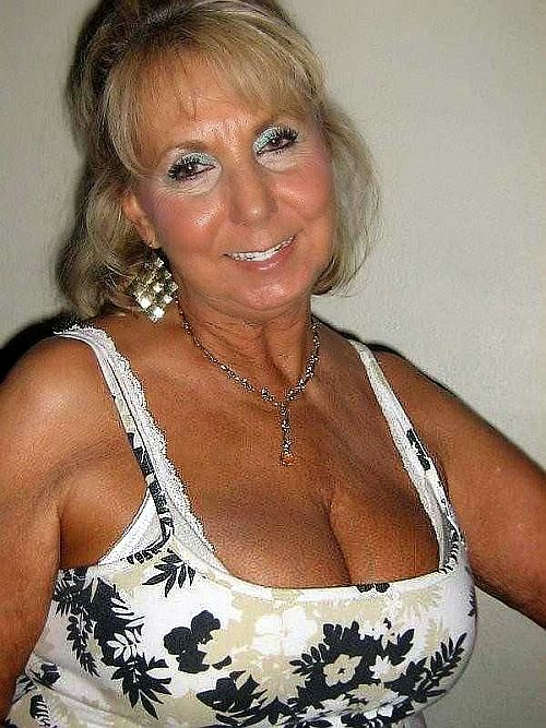 Old women huge boobs