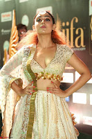 Apoorva Spicy Pics in Cream Deep Neck Choli Ghagra WOW at IIFA Utsavam Awards 2017 115.JPG