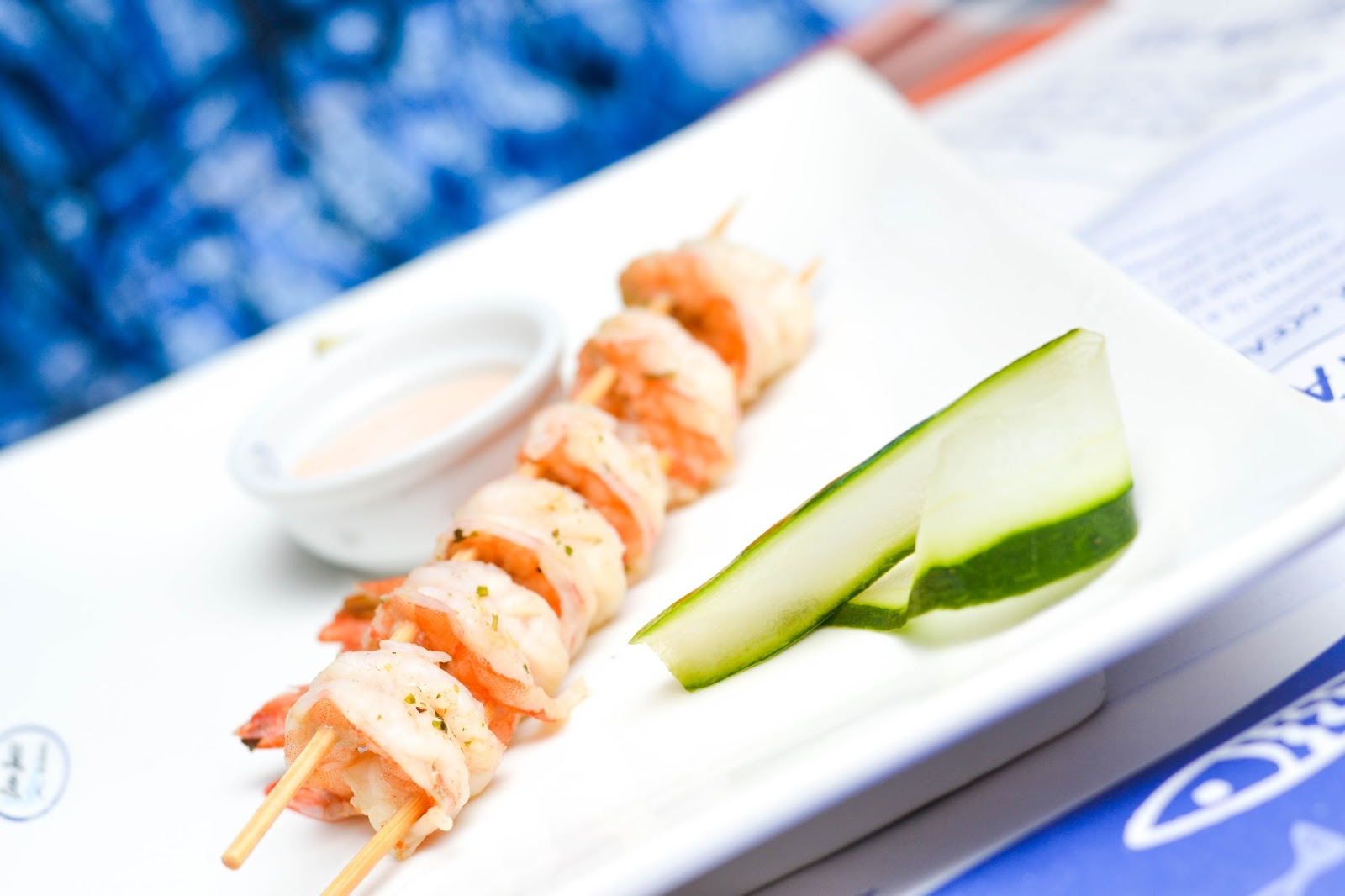 Zucchini and King Prawn Skewer from Ocean Basket