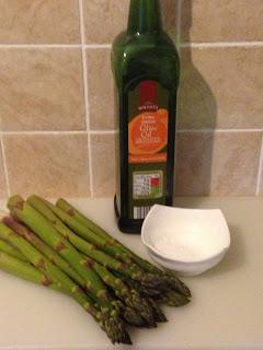 Espárragos verdes a la plancha, ingredientes