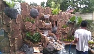 Relief Tebing Air Terjun Buatan - SuryaTaman