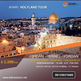 paket holyland bahana tour