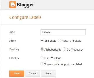 Merubah Tampilan Label di Blogspot