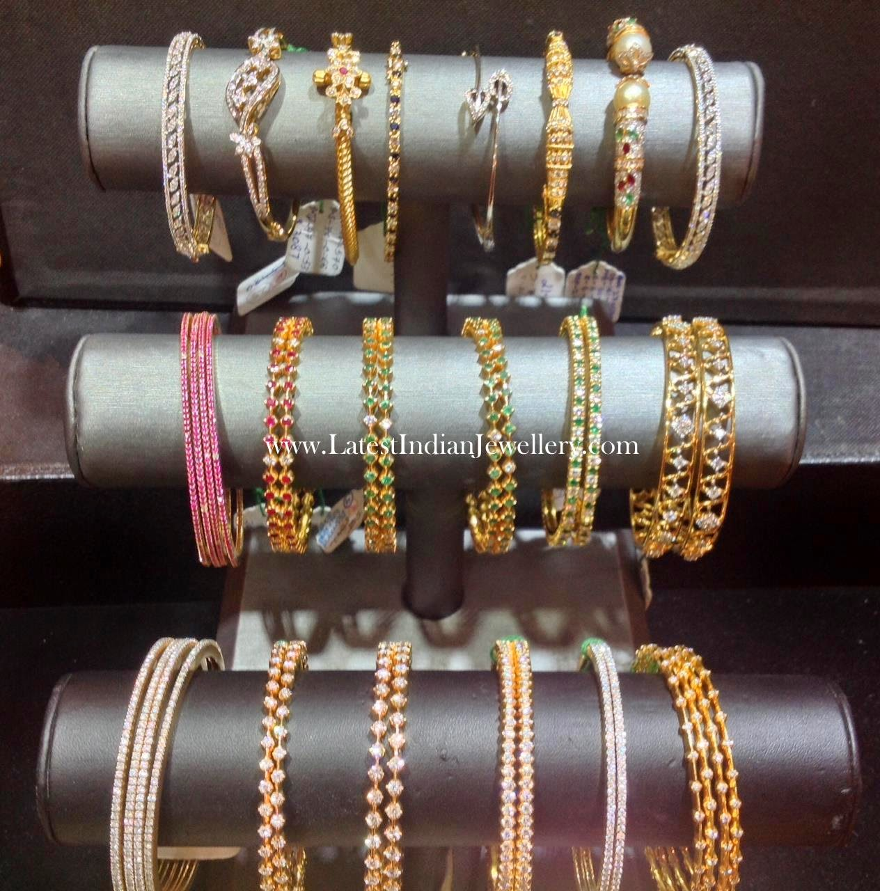 Simple Diamond Bangles And Bracelets Latest Indian