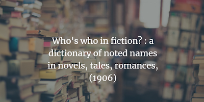 Who's who in fiction?
