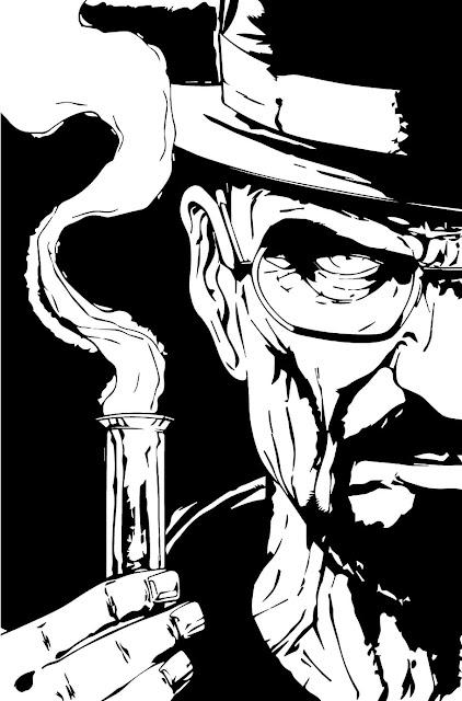 Fan Art of Walter White holding the test tube