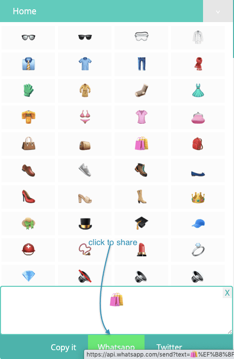 How to Share 📡 Object Symbols On Whatsapp?