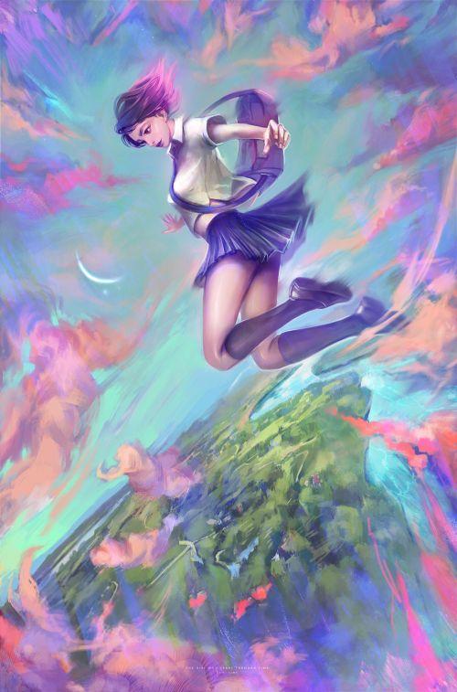 Dzikawa artstation deviantart arte ilustrações fantasia games fan arts