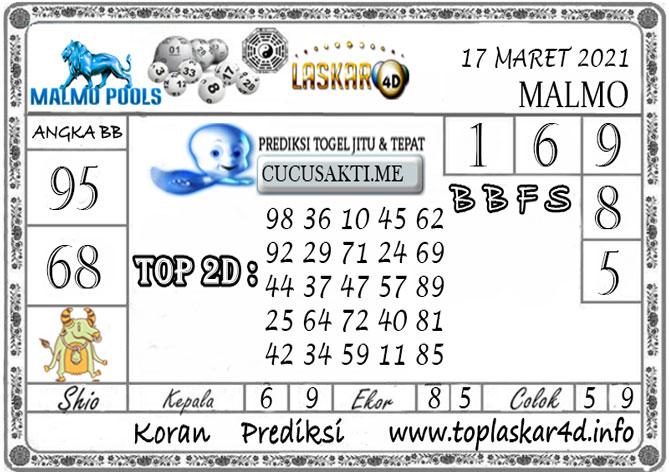 Prediksi Togel MALMO LASKAR4D 17 MARET 2021