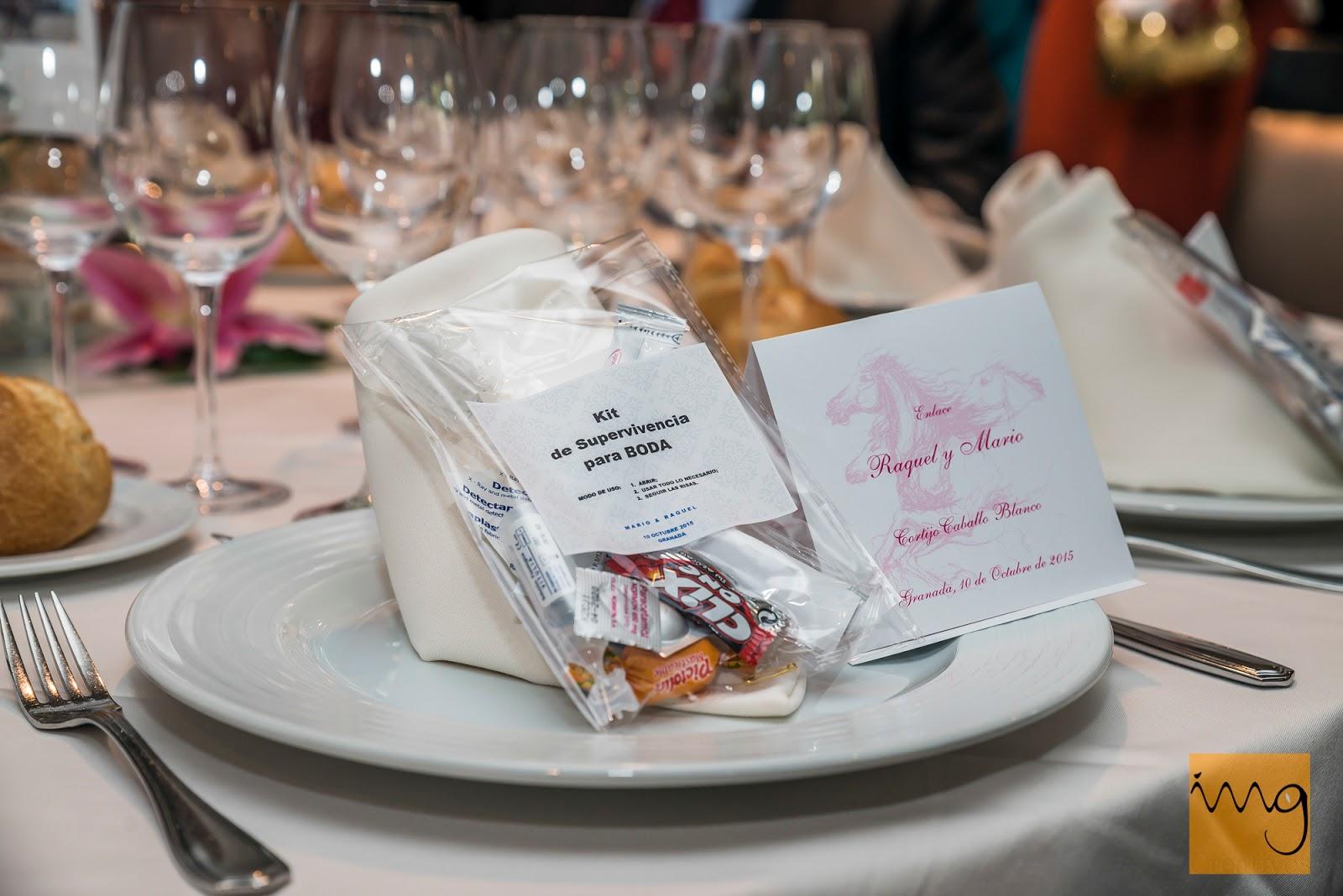 Fotografía de boda en Granada. Detalle de los platos en el Caballo Blanco
