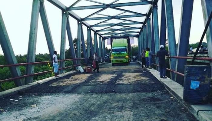 Jembatan Penghubung Mesuji-Sumsel Usai Diperbaiki, Jalur Lintas Timur Kembali Dibuka