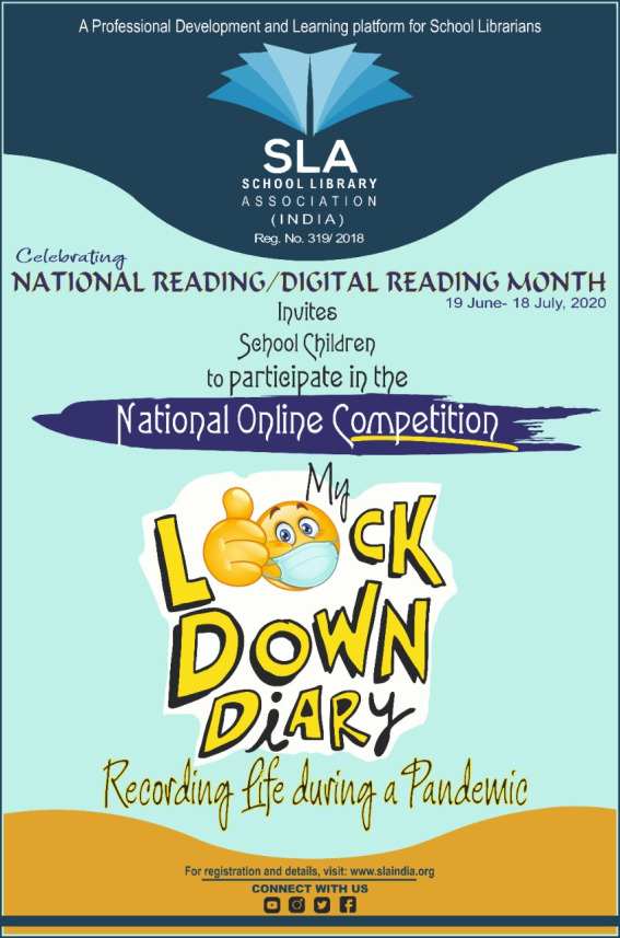 'My Lockdown Diary: Recording Life during a Pandemic'  - National Online Digital Journal Competition