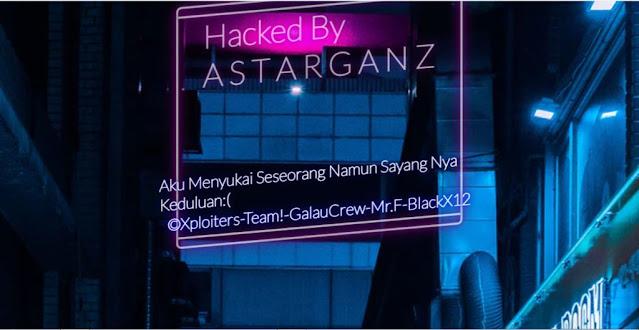 Situs Tribun News di hack oleh hacker ASTARGANZ
