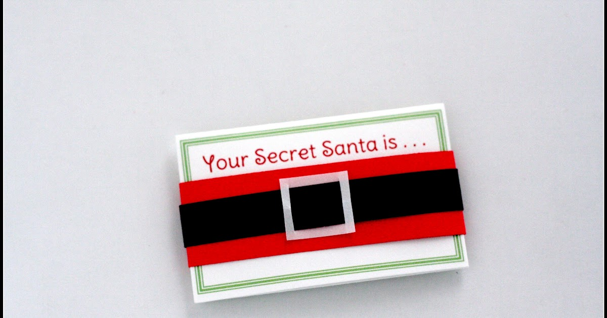 Big K Little G: DIY Secret Santa Drawing Gift Tags with ...