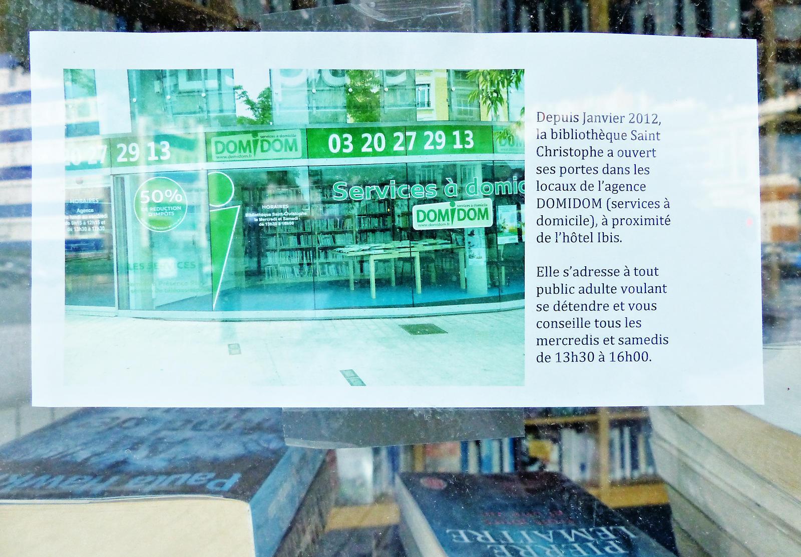 Bibliothèque Saint Christophe, Tourcoing - Locaux Domidom.