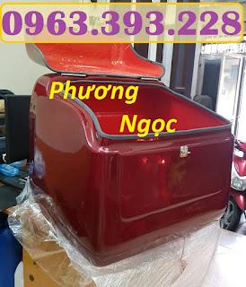 Thùng giao hàng trung, thùng chở hàng sau xe máy, thùng ship đồ ăn 84258b2062dd9b83c2cc