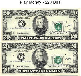 4 The Love Of Freebies Free Printable Play Money