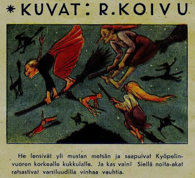 Rudolf Koivu, Säästäjälehti, noita-akat, trullit