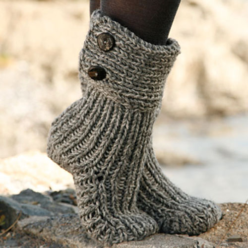 Moon Socks - Free Pattern