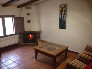 chimenea habitacion casa rural cuenca