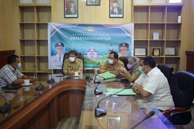 Wakil Walikota Siantar Togar Sitorus,SE.MM Ikuti Zoom Meeting Sosialisasi Permendagri No.7 Thn 2021
