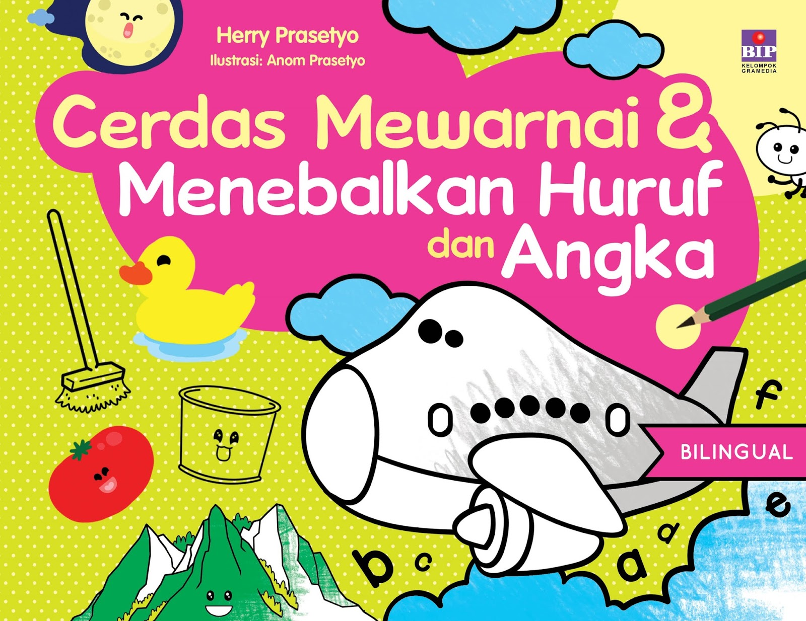 Buku ini disusun untuk menemani anak PAUD belajar mewarnai yang positif dan kreatif serta menumbuhkan benih benih kecerdasan dalam menulis dan berhitung