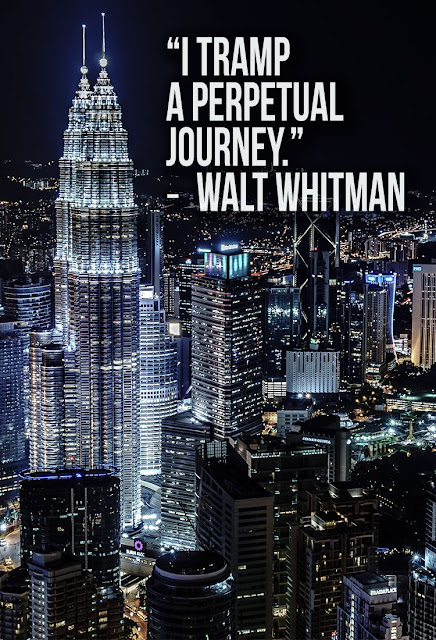 a quote I tramp a perpetual journey by Walt Whitman