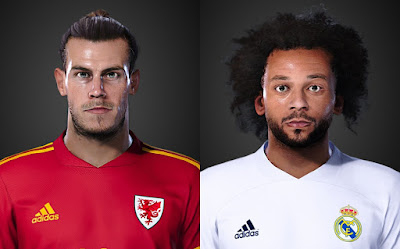 PES 2021 Faces Gareth Bale & Marcelo by LR7