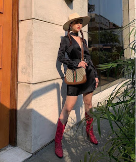 Chi Pu sành điệu với boots đỏ biến hóa thành cô nàng cao bồi