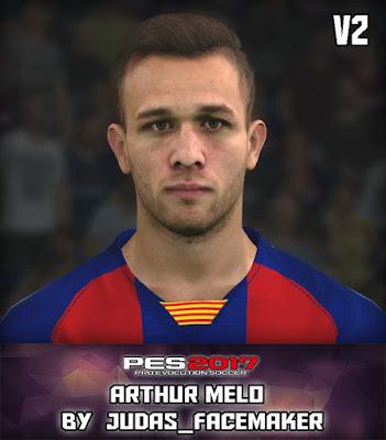 PES17 Arthur Melo by Judas Facemaker