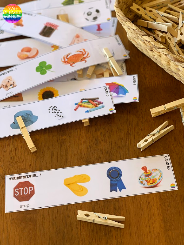 Rhyming Word Cards - ready to print, these beautifully made rhyming word cards are the perfect addition to your literacy centers or Daily 5 Word Work | you clever monkey