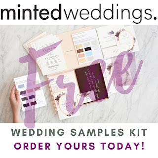 free wedding samples kit minted