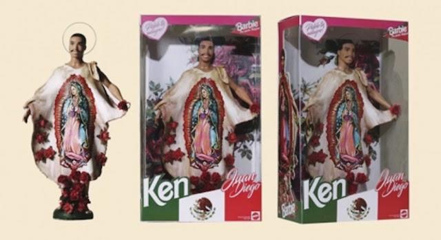 bonecas barbie modificadas, bonecas personalizadas, bonecas barbie religiosas, barbie baphomet, boneca barbie baphomet, boneco san juan diego