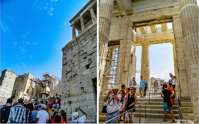 Propileu, entrada cerimonial da Acrópole de Atenas
