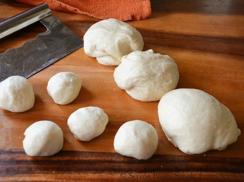 Homemade Flour Tortilla Dough divided into balls.