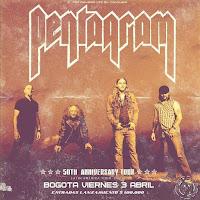 Concierto de PENTAGRAM en Bogotá