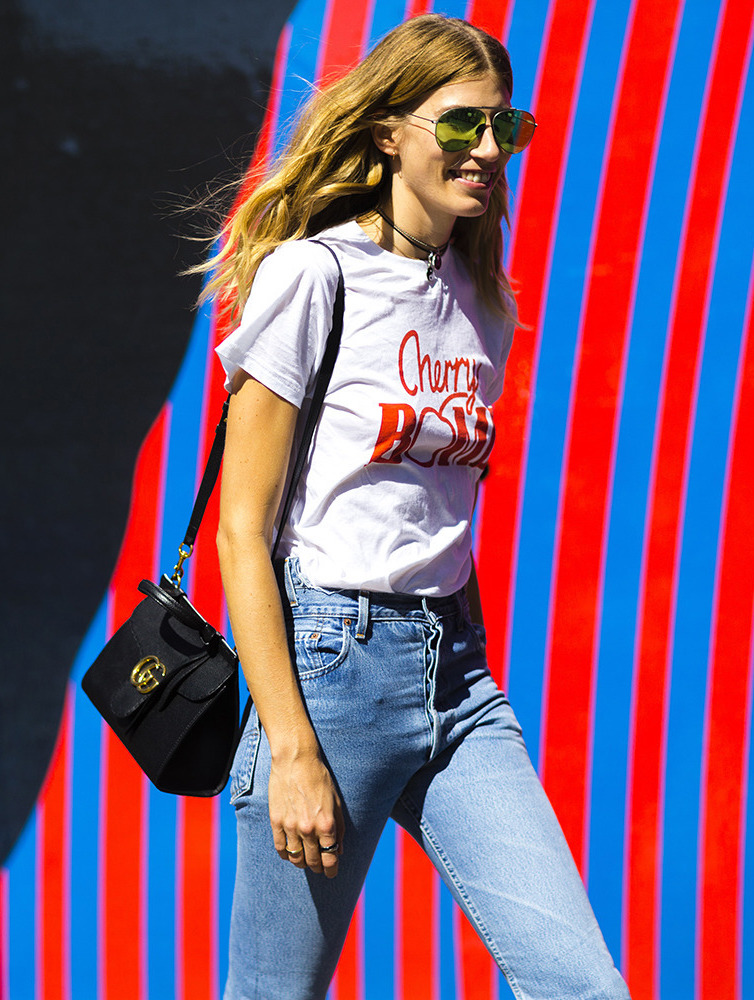 How to Wear a Graphic Tee for Summer —Veronika Heilbrunner Street Style