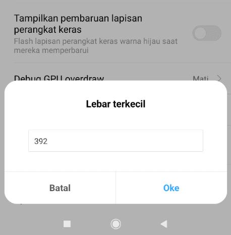Ubah Resolusi Layar HP Android